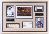 P. G. T. Beauregard & Robert Anderson Signed Civil War 22x32 Custom Framed Cut & Check Display (JSA ALOA & PSA Encapsulated)