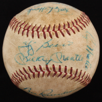 1961 World Series Yankees Signed OAL Baseball Signed by (10) with Mickey Mantle, Yogi Berra, Roger Maris, Jim Coates (JSA LOA)