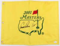 Arnold Palmer & Jack Nicklaus Signed 2001 Masters Tournament Golf Pin Flag (JSA LOA)