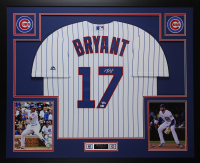 Kris Bryant Signed Cubs 35x43 Custom Framed Jersey Display (Fanatics & MLB Holgoram)