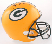 "Aaron Rodgers Signed Packers Full-Size Helmet Inscribed ""Fastest QB to 300 TD"" (Radke COA) at PristineAuction.com"