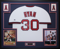 Nolan Ryan Signed Angels 35x43 Custom Framed Jersey Display (Beckett COA & Ryan Hologram)