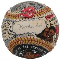 Muhammad Ali Signed Baseball Hand-Painted by Charles Fazzino (JSA LOA)