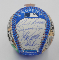 "Yankees ""Core Four"" Signed Baseball Hand-Painted by Charles Fazzino with (4) Signatures Including Derek Jeter, Mariano Rivera, Jorge Posada & Andy Pettitte (MLB Hologram)"