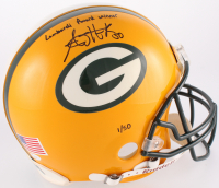 """A. J. Hawk Signed Packers LE Full-Size Authentic On-Field Helmet Inscribed """"Lombardi Award Winner"""" (JSA COA & Hawk Hologram) at PristineAuction.com"""