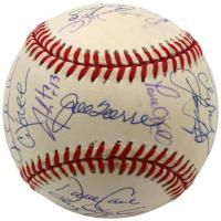 1999 New York Yankees World Series Baseball Team-Signed by (19) with Derek Jeter, Joe Torre, Mariano Rivera Paul O'neill, Andy Pettitte, Roger Clemens (Steiner Hologram)