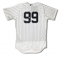 """Aaron Judge Signed Yankees LE Majestic Jersey Inscribed """"All Rise"""" & """"Judgement Day"""" (Fanatics & MLB Hologram)"""
