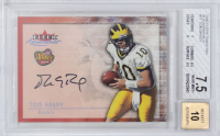 2000 Fleer Tradition Autographics #17 Tom Brady - Autograph Graded BGS 10 (BGS 7.5)