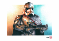 """Thang Nguyen - """"Captain Phasma"""" Star Wars 8x12 Signed Limited Edition Giclee on Fine Art Paper #/25"""