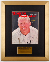 "Mickey Mantle Signed Vintage Sports Illustrated Cover Photo 14x17.5 Custom Frame Display Inscribed ""Best Wishes"" (PSA LOA)"