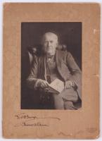 Thomas Edison Signed 6.5x9 Custom Matted Photo (JSA LOA)