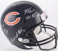 """Dick Butkus, Mike Singletary & Brian Urlacher Signed Chicago Bears Full-Size Helmet Inscribed """"HOF 78"""", """"HOF 79"""", """"HOF 2018"""" & """"Monsters of the Midway"""" (JSA COA)"""