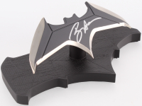 Ben Affleck Signed Stainless Steel Batman Batarang Replica with Batman Logo (Beckett COA)