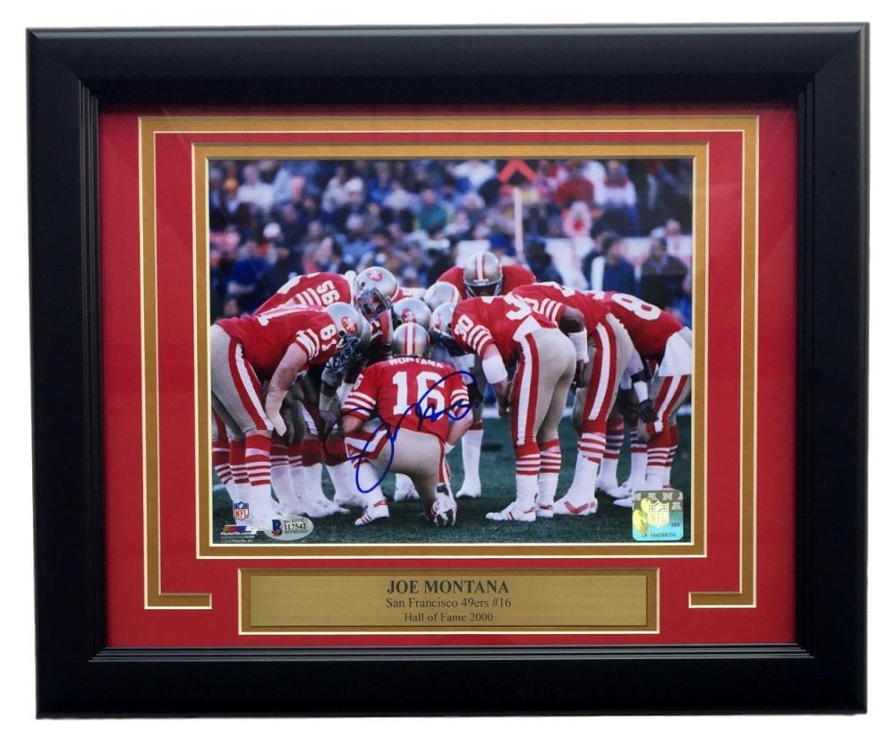714cc173f Joe Montana Signed 49ers 11x14 Custom Framed Photo Display (Beckett COA) at  PristineAuction.