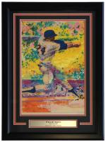 "Leroy Neiman Willie Mays ""Say Hey Kid"" 18x24 Custom Framed Print Display at PristineAuction.com"