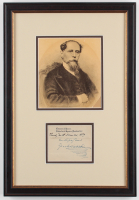 "Charles Dickens Signed 10.5x15.5 Custom Framed Cut Display Inscribed ""Thursday Tenth November. 1859"" & ""Faithfully Yours"" with Photo (JSA ALOA)"