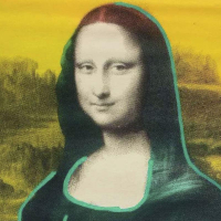 "Ringo Signed ""Mona Lisa"" 17x21 Custom Framed One-of-a-Kind Mixed Media Painting on Canvas at PristineAuction.com"