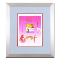 "Peter Max Signed ""Sage and Profile"" 18x21 Custom Framed One-Of-A-Kind Acrylic Mixed Media at PristineAuction.com"