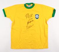 Pele, Carlos Alberto, Gerson & Jairzihno Signed Brazil Jersey (PSA Hologram)