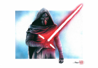 "Thang Nguyen - ""Kylo Ren"" Star Wars 8x12 Signed Limited Edition Giclee on Fine Art Paper #/25"