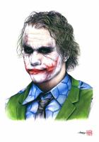 "Thang Nguyen - Heath Ledger ""Joker"" Batman 8x12 Signed Limited Edition Giclee on Fine Art Paper #/25"