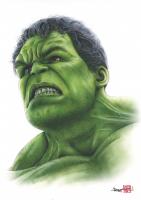 Thang Nguyen - The Hulk 8x12 Signed Limited Edition Giclee on Fine Art Paper #/25 at PristineAuction.com