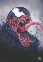 "Thang Nguyen - Venom ""Spider-Man""  8x12 Signed Limited Edition Giclee on Fine Art Paper #/25 at PristineAuction.com"