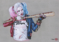"Thang Nguyen - ""Harley Quinn"" Batman 8x12 Signed Limited Edition Giclee on Fine Art Paper #/25 at PristineAuction.com"