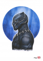 Thang Nguyen - Black Panther 8x12 Signed Limited Edition Giclee on Fine Art Paper #/25