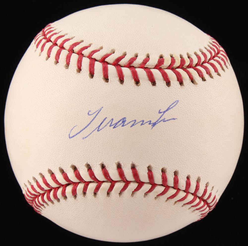 Juan Cruz Signed OML Baseball (Fanatics, MLB & Mounted ...  Mounted