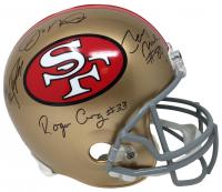 49ers Full-Size Helmet Signed by (4) with Joe Montana, Jerry Rice, Roger Craig & John Taylor (JSA COA)