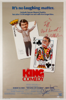 "Robert DeNiro, Jerry Lewis & Sandra Bernhard Signed ""The King of Comedy"" 27x43 Movie Poster With Inscription  (JSA LOA)"