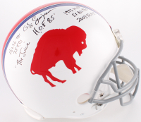 O. J. Simpson Signed Bills Throwback Full-Size Authentic On-Field Helmet With Multiple Inscriptions (JSA COA)