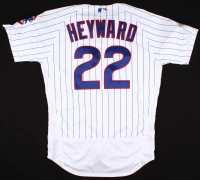 Jason Heyward Game-Used Cubs Jersey with 2017 Postseason Patch (MLB Authentication) at PristineAuction.com