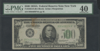 1934-A $500 Five Hundred Dollars Federal Reserve Note - BA Block - FR#2202-B (PMG 40)
