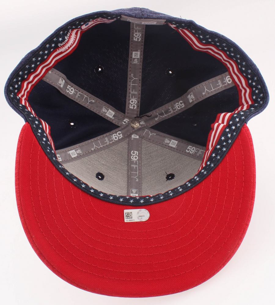 6a582c468ac Jason Heyward Cubs 4th of July Game-Used New Era Fitted Baseball Hat (MLB