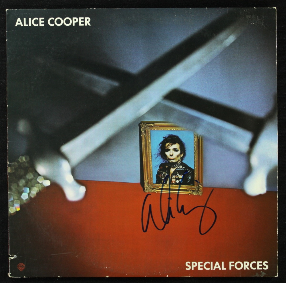 """Alice Cooper Signed LP Record: """"Special Forces"""" (PA LOA) at PristineAuction.com"""