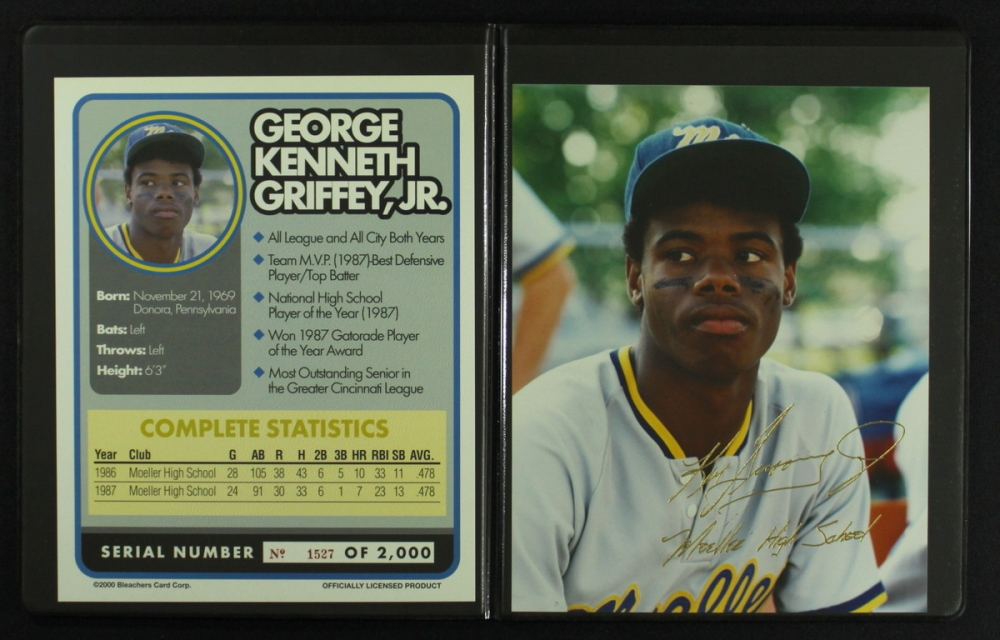 482211c141 Ken Griffey Jr. LE Moeller High School Photo Display with Photo & Stat Card  at
