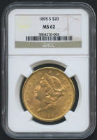 1895-S $20 Liberty Head Double Eagle Gold Coin (NGC MS 62)