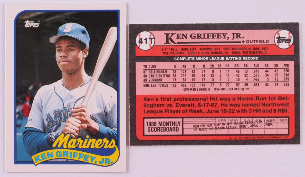 b717df0e35 Lot of (12) 1989 Topps Traded #41T Ken Griffey Jr. RC Baseball
