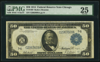 1914 $50 Fifty Dollars Federal Reserve Note - Chicago (PMG 25)