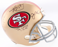 """Joe Montana & Dwight Clark Signed 49ers Full-Size Helmet Inscribed """"The Catch"""" & """"1-10-82"""" with Hand-Drawn Play (JSA COA) at PristineAuction.com"""