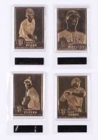 Lot of (4) Giants All-Time Greats 22kt Gold Card Set with #86 Juan Marichal, #82 Gaylord Perry, #66 Barry Bonds, #2 Orlando Cepeda at PristineAuction.com