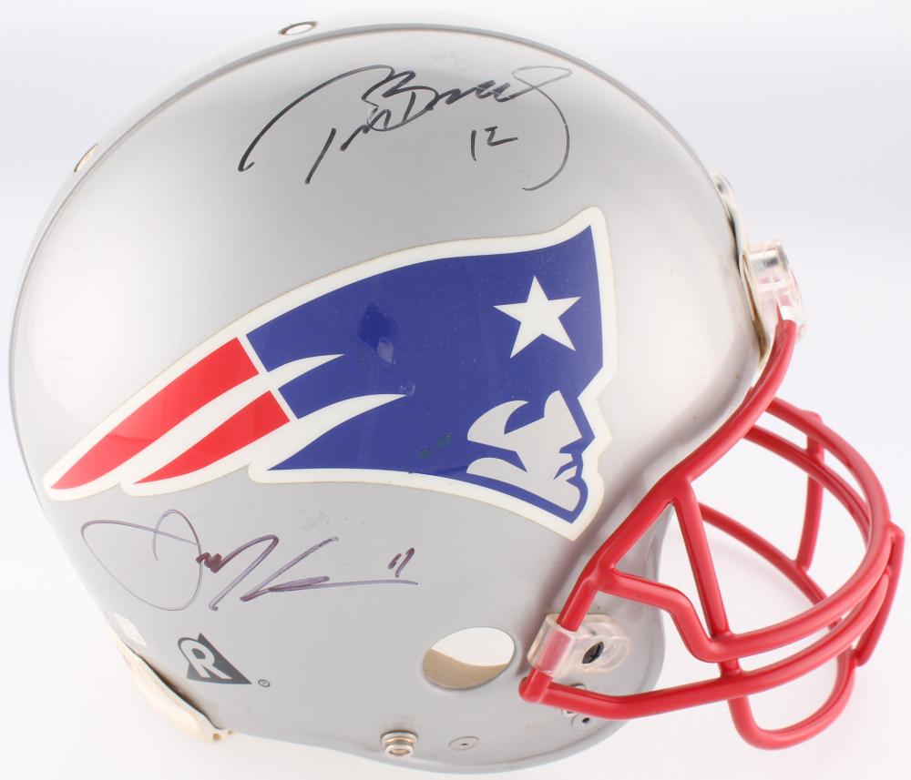 Tom Brady   Julian Edelman Signed Patriots Full-Size Helmet (JSA LOA   JSA 4422599a5