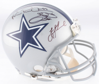 "Troy Aikman, Emmitt Smith & Michael Irvin ""The Triplets"" Signed Cowboys Authentic On-Field Full-Size Helmet (JSA Hologram, Prova Hologram, & Aikman Hologram)"