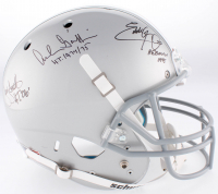 Eddie George, Troy Smith & Archie Griffin Signed Ohio State Buckeyes Full-Size Helmet with (3) Heisman Inscriptions (JSA COA) at PristineAuction.com