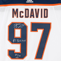 """Connor McDavid Signed Limited Edition Edmonton Oilers Jersey Inscribed """"#1 Pick 2015"""" (UDA COA) at PristineAuction.com"""