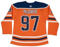 "Connor McDavid Signed LE Oilers Jersey Inscribed ""Hat Trick"" & ""10/4/17"" (UDA COA)"