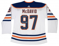 "Connor McDavid Signed Limited Edition Edmonton Oilers Jersey Inscribed ""2016-17 Hart"" (UDA COA) at PristineAuction.com"