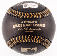 Clayton Kershaw Signed Black Leather OML Baseball (MLB Hologram) at PristineAuction.com